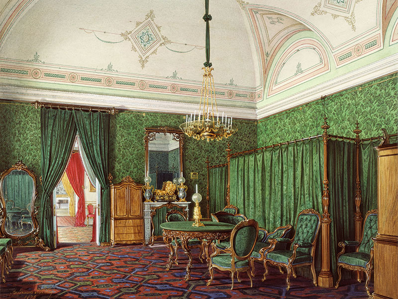 Фото Луиджи Премацци – Зимний Дворец. Гардеробная императрицы Марии Александровны